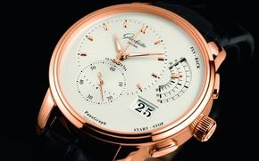 Картинка время, стрелки, часы, циферблат, glashutte