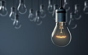 Обои artificial, lighting, light, hanging light bulbs