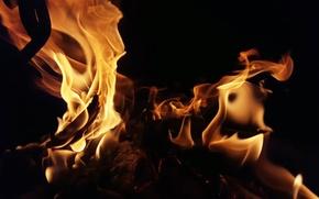 Картинка фон, огонь, пламя