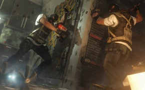 Картинка террористы, Rainbow six: Siege, строят, баррикады