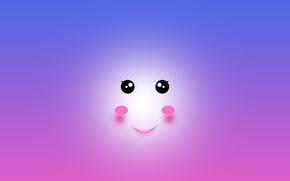 Картинка глаза, абстракция, улыбка, рот, аниме, kawaii, арт, cute