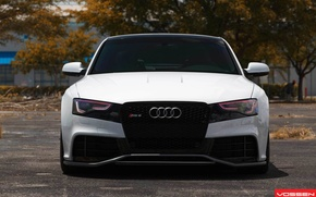 Обои audi, ауди, белый, воссен, white, vossen, rs5