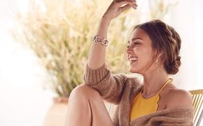 Картинка девушка, улыбка, настроение, актриса, красавица, jessica alba