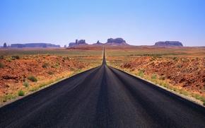 Обои дорога, горизонт, горы