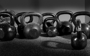 Обои fitness, crossfit, metal, Russian dumbbell
