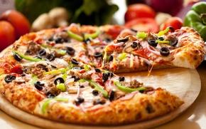Обои еда, пицца, pizza