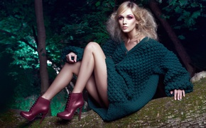 Картинка девушка, макияж, glamour, Daniel Ilinca, Oana