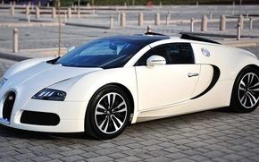 Картинка белый, Bugatti, Veyron, бугатти