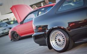 Картинка sport, Honda, black, photo, tuning, low, BBS, styling, MMaglica photo, MMaglica, car styling