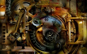Картинка abstract, antique, surreal, mechanical dream