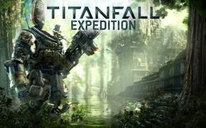 Картинка джунгли, пилот, боец, pilot, Titan, Titanfall Expedition