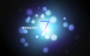 Картинка круги, лого, windows7