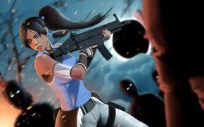 Картинка девушка, оружие, арт, зомби, Avatar, The Last Airbender, Korra