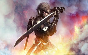 Картинка меч, wallpaper, мужчина, Metal Gear, Raiden, Rising, Revengeance, райден, cybernetic ninja, Katana, кибернетический ниндзя, Jack …