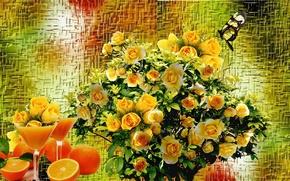Картинка розы, букет, Натюрморт