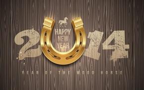Картинка happy new year, С Новым годом, 2014, 2014 год, year of the wood horse, год …