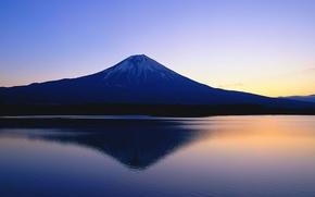 Картинка япония, гора, фудзи