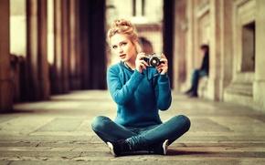 Обои фотоаппарат, Lods Franck, девушка