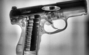 Картинка пистолет, рентген, pistol, X-Ray