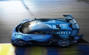 Картинка Bugatti, Vision, race, Gran Turismo, hypercar