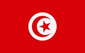 Обои Тунис, Tunisia, Флаг, Photoshop