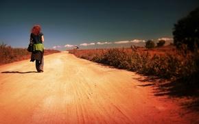 Картинка girl, road, alone, walking