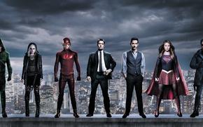 Картинка Warner Bros. Pictures, Melissa Benoist, Grant Gustin, Rose McIver, iZombie, Boys, Ben McKenzie, Captain Cold, ...