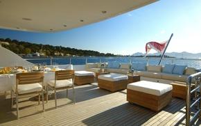 Картинка дизайн, стиль, интерьер, яхта, палуба, люкс