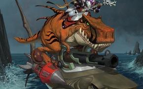 Картинка вода, акула, undead, wow, нежить, world of warcraft, отрекшийся, dinosaur, дьявозавр, Epicus