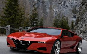Обои скалы, BMW