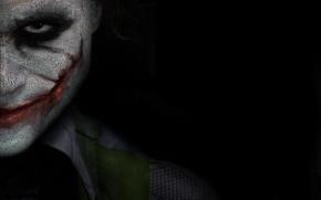 Обои надписи, улыбка, лицо, Джокер