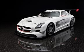 Обои белый, SLS GTR, Mercedes-Benz