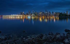 Обои Vancouver, Stanley Park, панорама, dusk, город