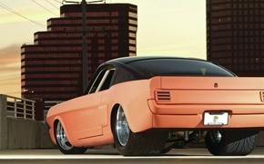 Картинка Mustang, Ford, вид сзади, muscle car, Fastback