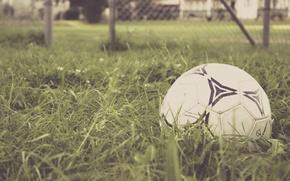 Картинка трава, футбол, игра, мяч