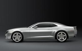 Обои Camaro, серебристый, Chevrolet