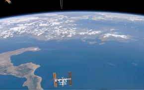 Картинка планета, станция, орбита