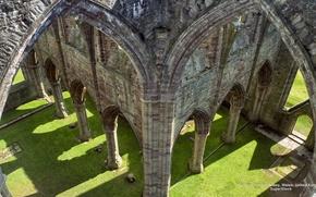 Картинка Wallpaper, Widescreen, Wales, United Kingdom, Fullscreen, Ruins of Tinturn Abbey