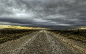 Картинка дорога, поле, перспектива