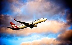 Картинка Aviatoin, B737, Quantas, Boing 737, Australia Airlines