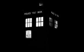 Картинка Черный Фон, Doctor Who, Доктор Кто, ТАРДИС, TARDIS