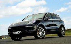 Картинка Porsche, порше, Turbo, Cayenne, кайен, UK-spec, 958, 2014