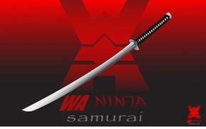 Картинка Ninja, Samurai, Minimalism