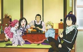 Картинка noragami, Yato, бездомный бог, Yukine, Hiyori