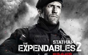 Обои The Expendables 2, Jason Statham, Неудержимые 2, Lee Christmas, Джейсон Стэйтем