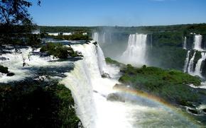 Картинка брызги, радуга, Водопад Игуасу, Cataratas del Iguazu