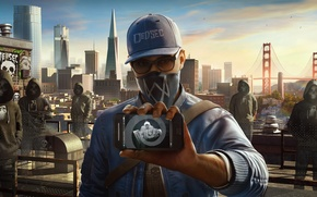 Картинка Ubisoft, San Francisco, Game, Phone, Marcus, Маркус Холлоуэй, Watch Dogs 2, DedSec, Marcus Holloway
