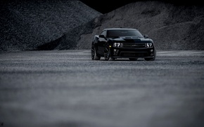 Обои chevrolet, camaro, zl1, black, andrew thompson