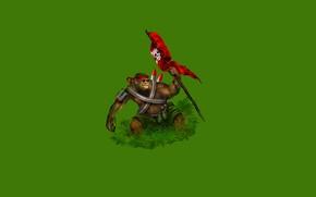 Картинка трава, зеленый, улыбка, green, череп, граната, минимализм, ракета, флаг, очки, обезьяна, повязка, monkey, патроны, Original …
