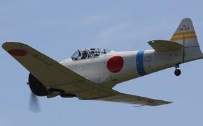 Картинка полет, истребитель, кабина, японский